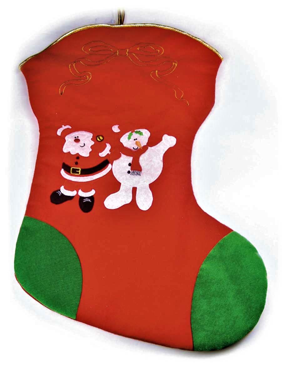 extra large christmas stocking with santa 100cm 39 - Extra Large Christmas Stockings