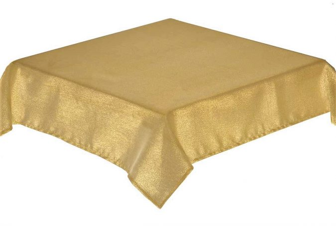 Glitterazzi Gold rectangle tablecloth 137x178cm
