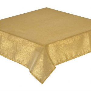 Glitterazzi gold tablecloth 172cm round + 6 napkins