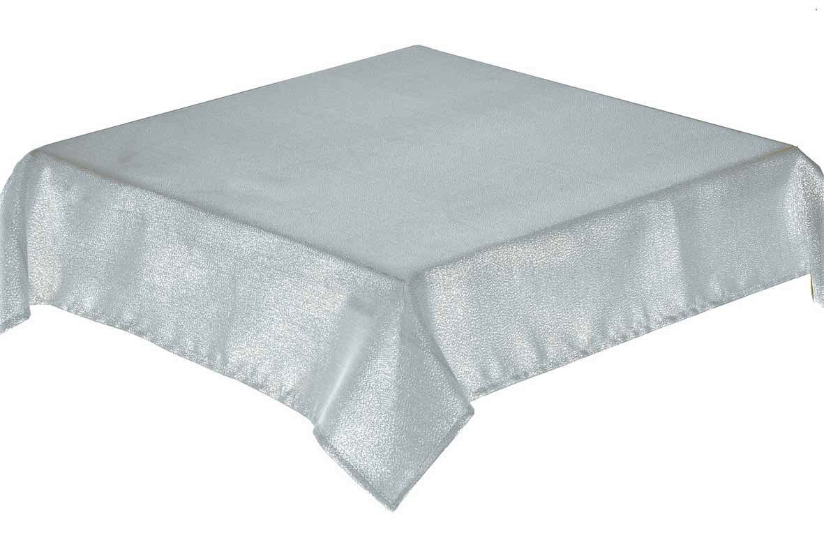 GLITTERAZZI Silver Tablecloth 137x229cm Oblong + 8 napkins