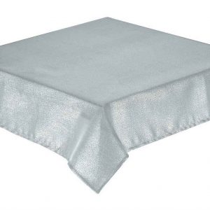 Silver Glitterazzi Rectangle Tablecloth 178x274cm oblong
