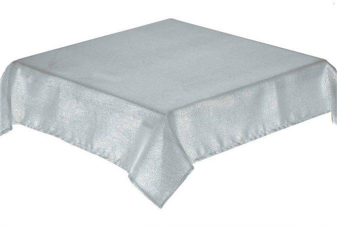 Glitterazzi Silver Square Tablecloth