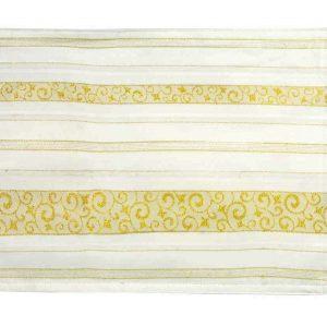 Fab gold circular tablecloth