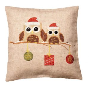 Christmas Owls cushion cover