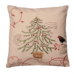 Robin Christmas cushion cover