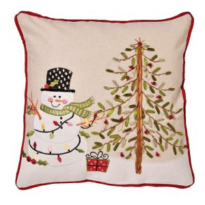 Snowman Christmas cushion cover