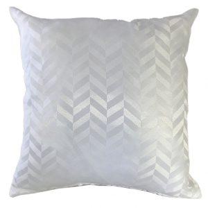 White chevron cushion cover