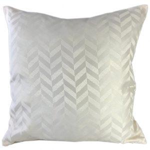Cream chevron cushion cover