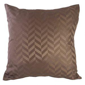 Coffee chevron cushion cover
