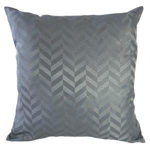 Silver chevron cushion cover