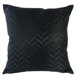 Chevron black cushion cover