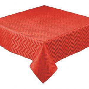 Red square jacquard tablecloth