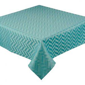 Teal blue oblong tablecloth