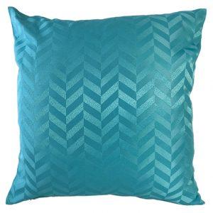 Teal chevron cushion cover