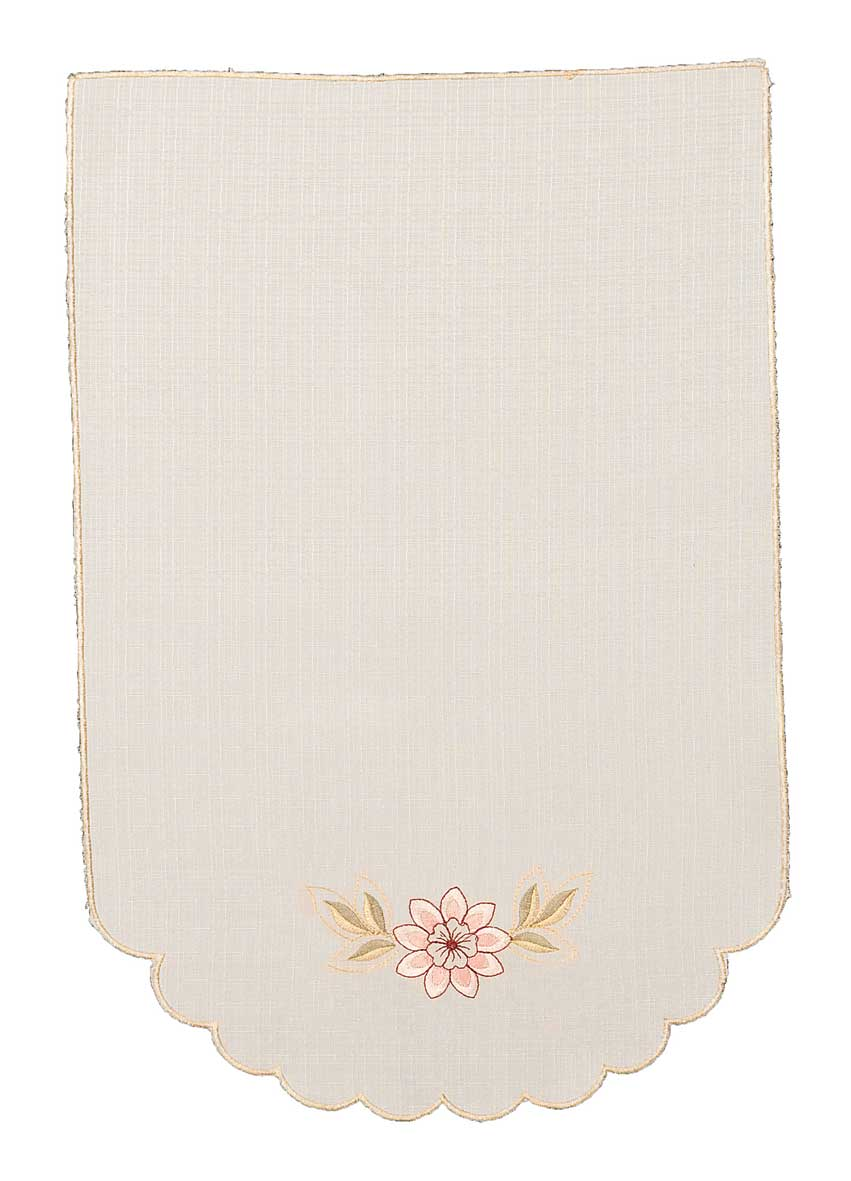 Cassandra Embroidered Pink Floral Chair Back Easycare