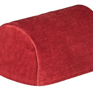 Burgundy chenille chair arm covers