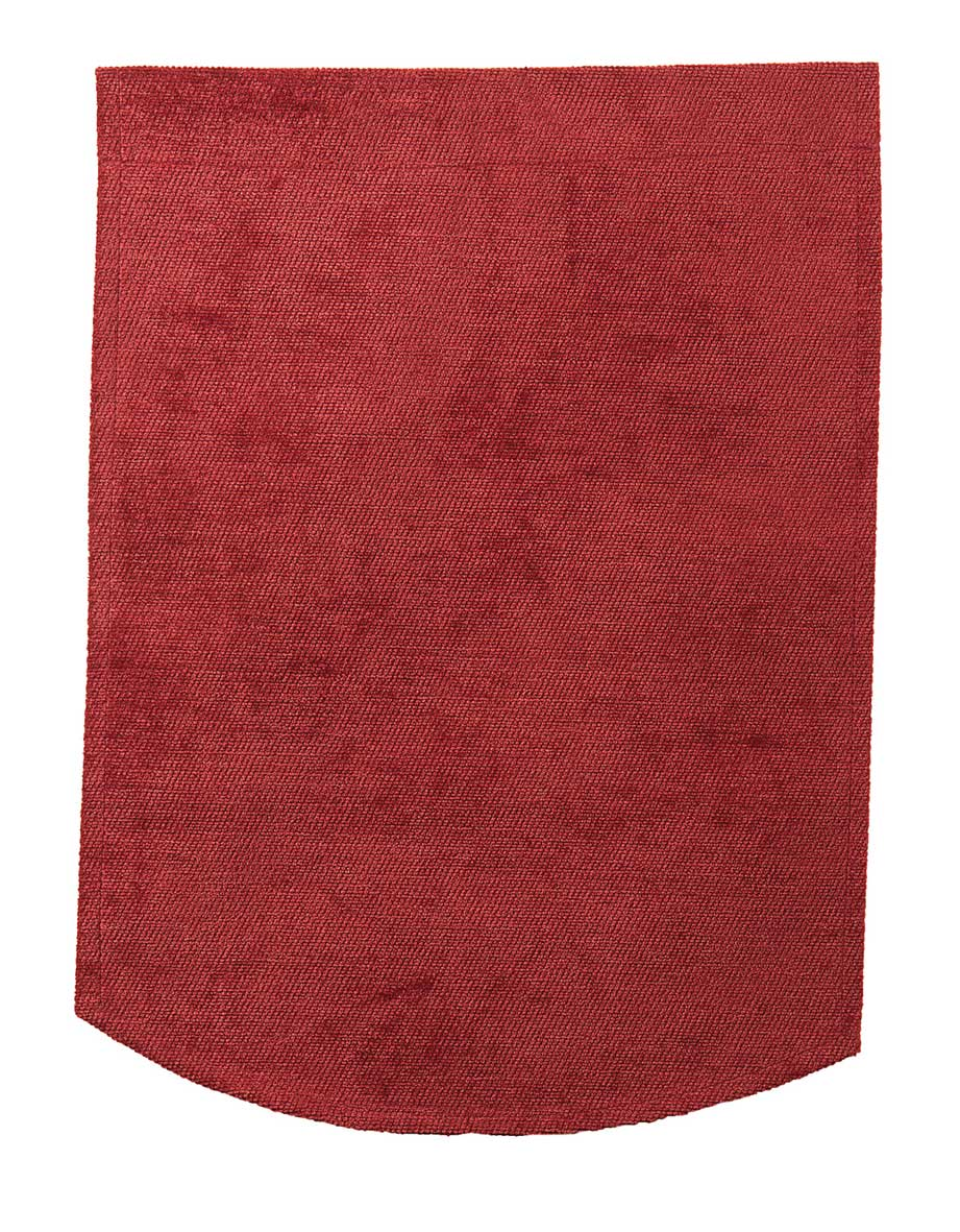 Burgundy chenille chair back covers