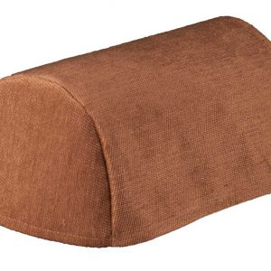Chocolate brown chenille chair arm covers