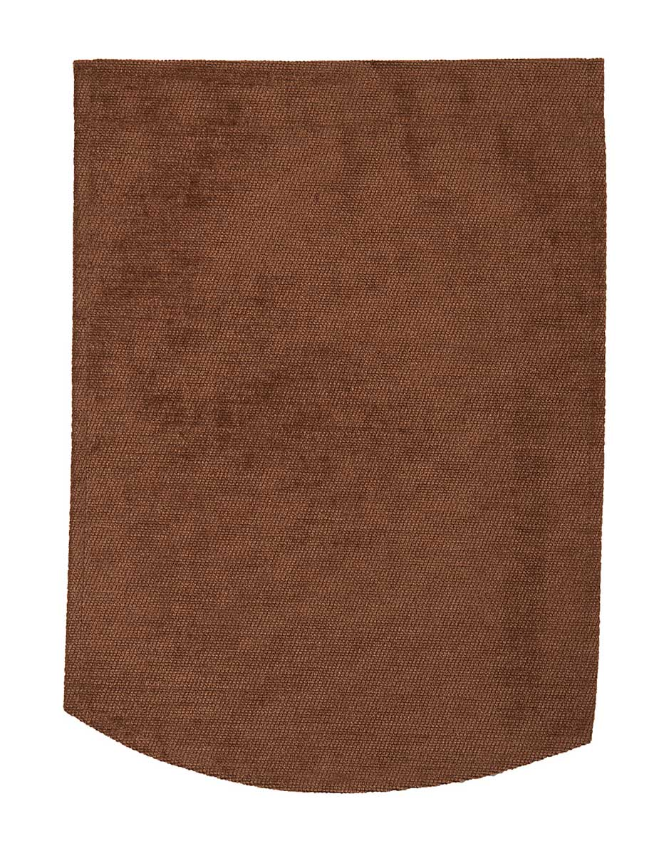 Chocolate brown chenille chair back covers