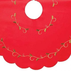 Cream holly tree skirt