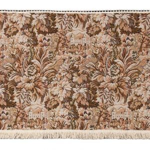 Castle tapestry settee back