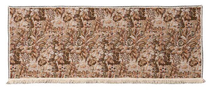 Castle tapestry settee back