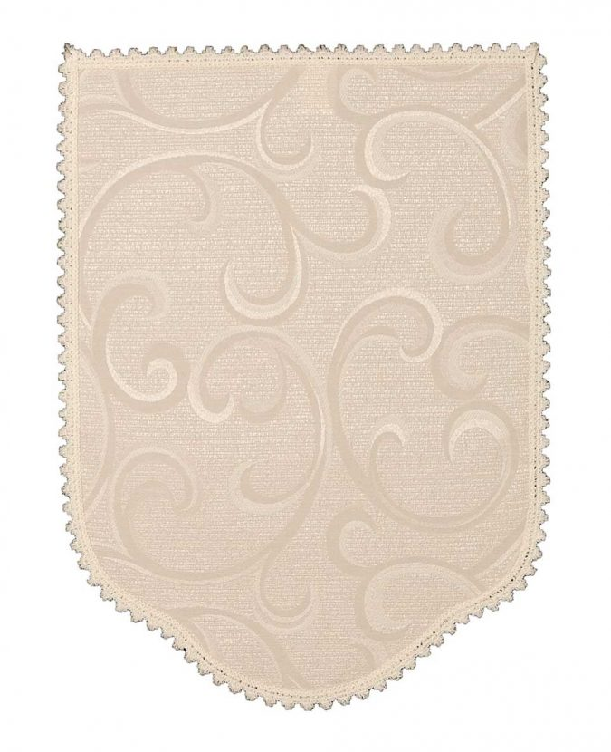 Scroll cream chair back covers