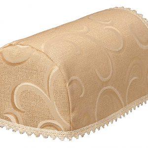 Scroll deep beige chair arm covers