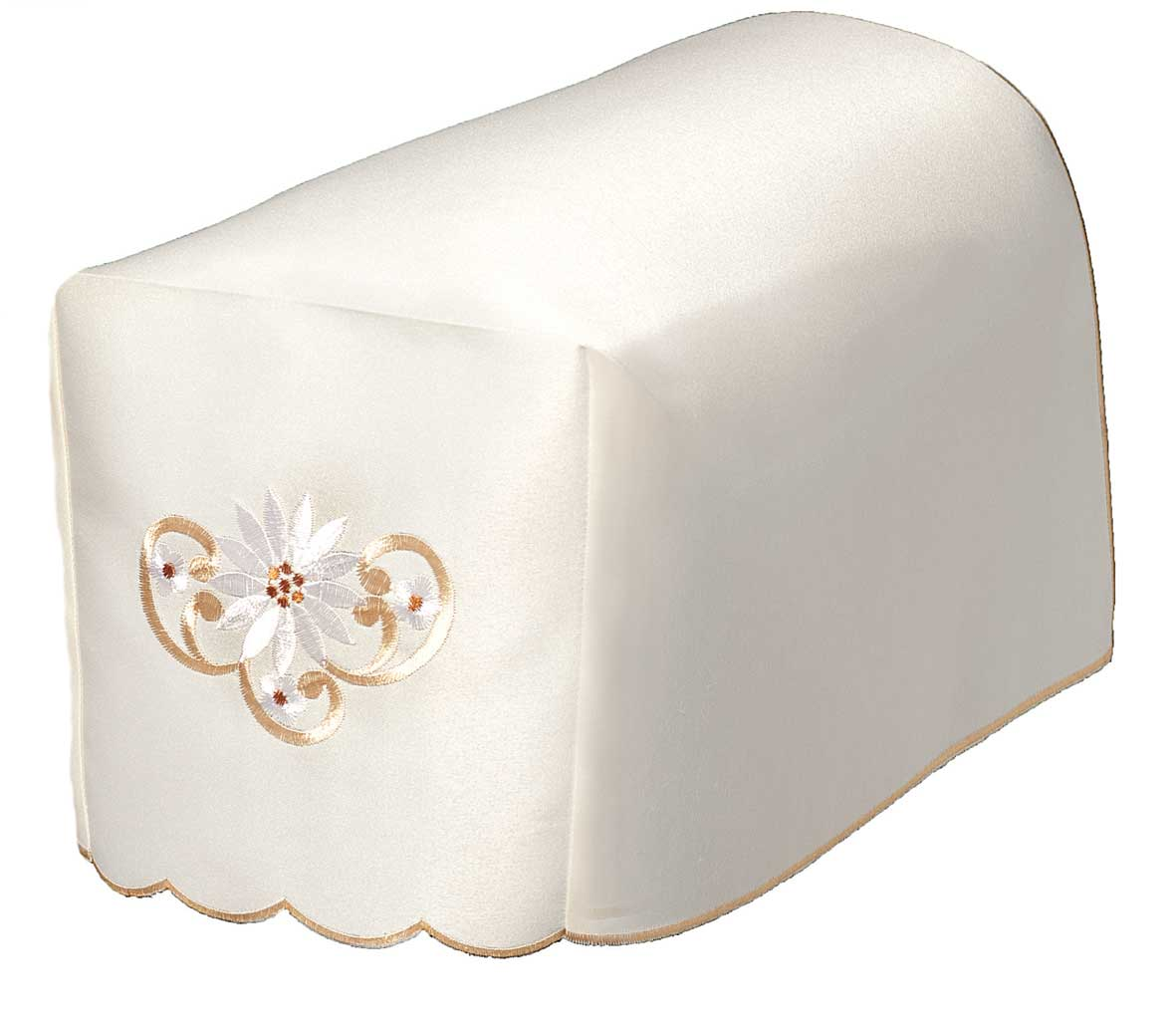 Monica daisy embroidered chair arm covers