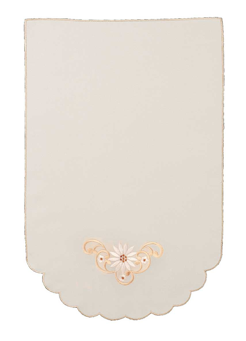 Monica daisy embroidered chair back covers