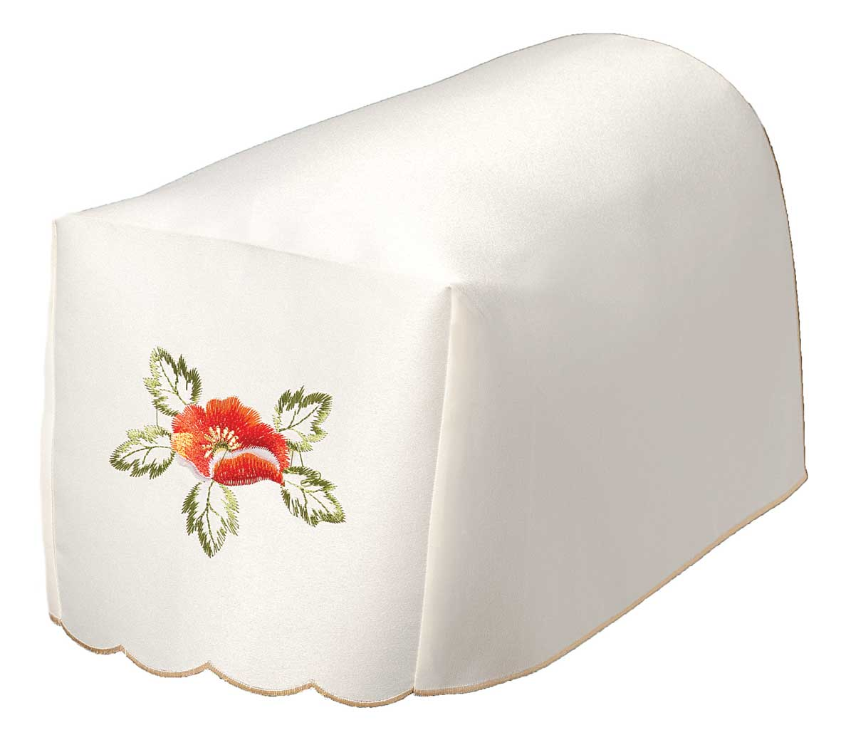 FIONA Embroidered Red Poppy Chair Arm Covers