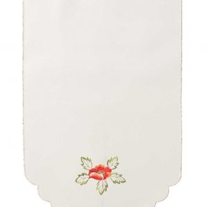 Fiona Embroidered red poppy chair back covers