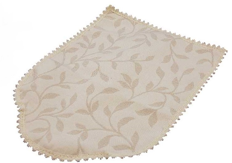 MODERN LEAF Cream jacquard Chair Back Covers
