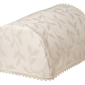 MODERN LEAF Cream Jacquard Chair Arm Covers