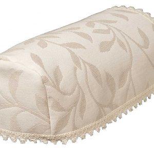Modern leaf cream jacquard narrow chair arm covers