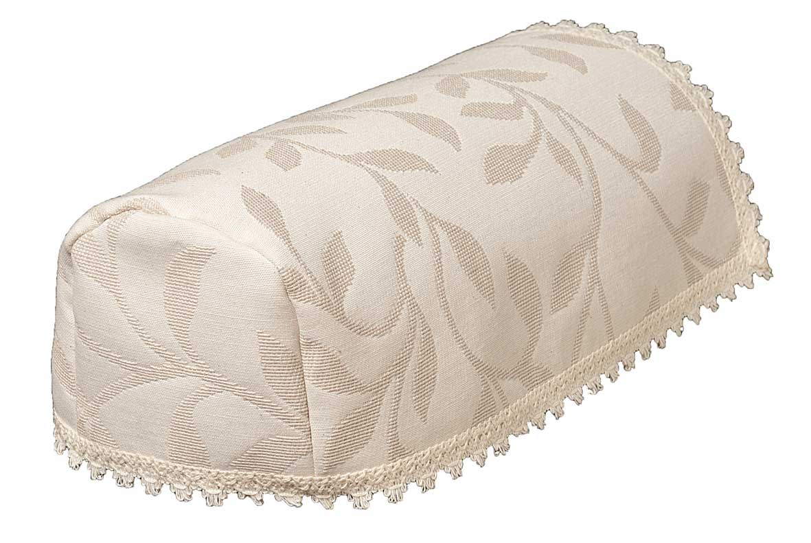 Modern leaf cream jacquard narrow chair arm covers