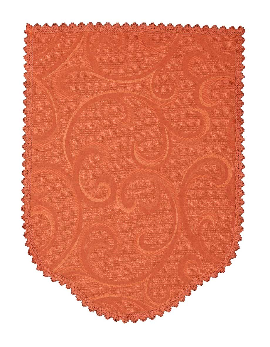 Scroll terracotta chair back covers