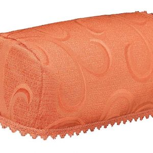 Scroll terracotta narrow chair arm covers