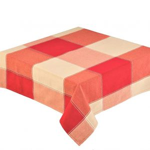"Republic Red Check Round 68"" Tablecloth"
