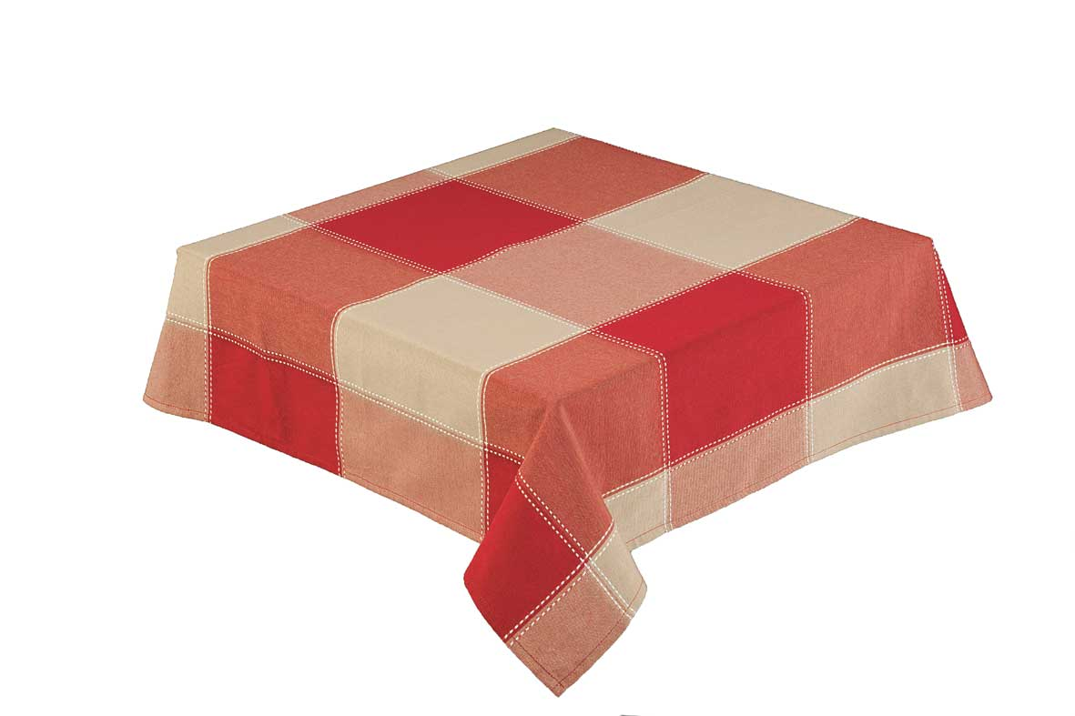 Republic Red Check Square 89 x 89cm