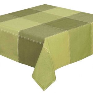 "Republic Green Check Square 52 x 52"" Tablecloth"
