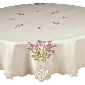 lavender sprig round tablecloth