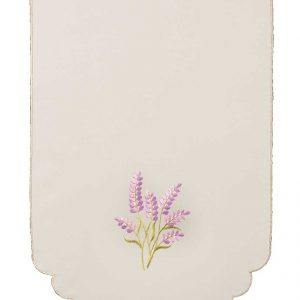 Lavender sprig embroidered chair back covers