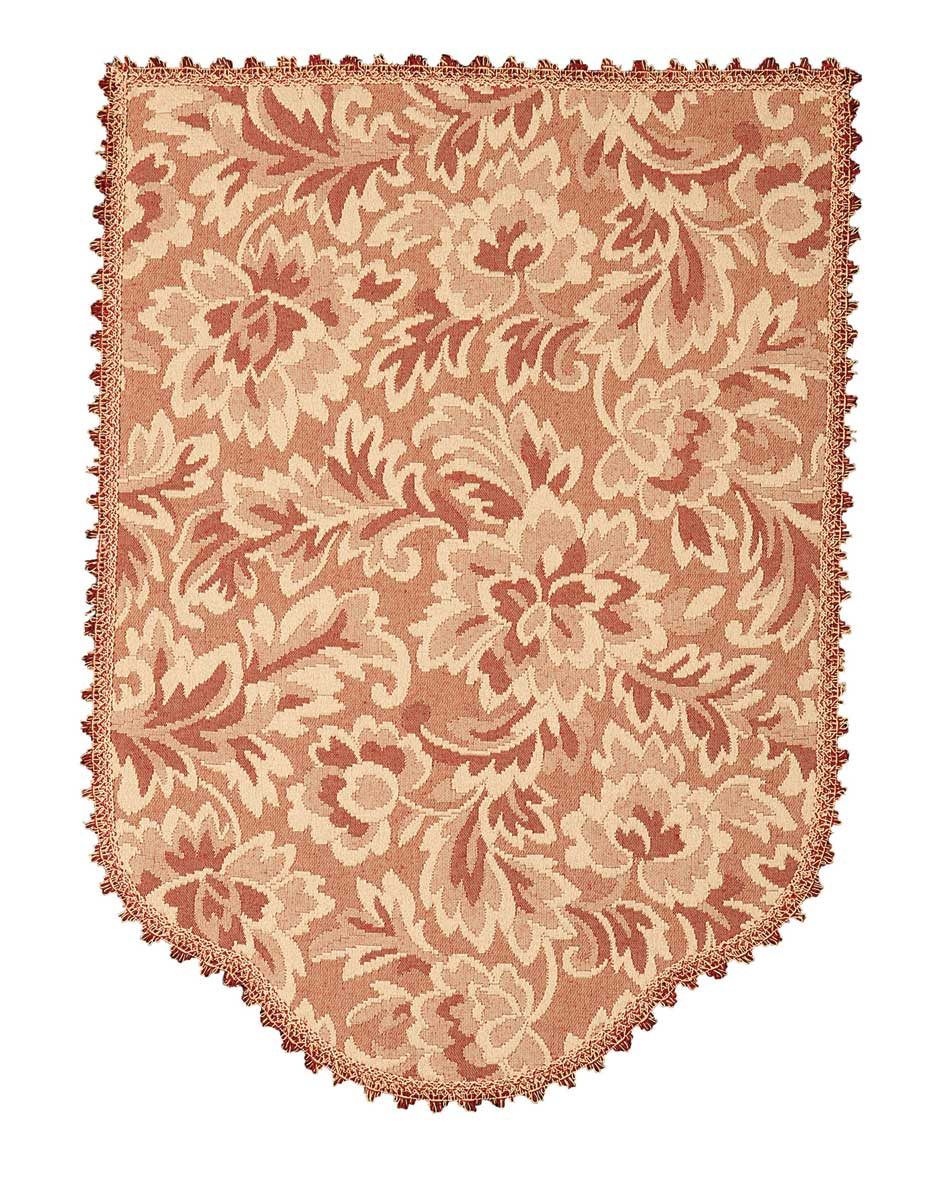 Floral matelasse chair back covers pink