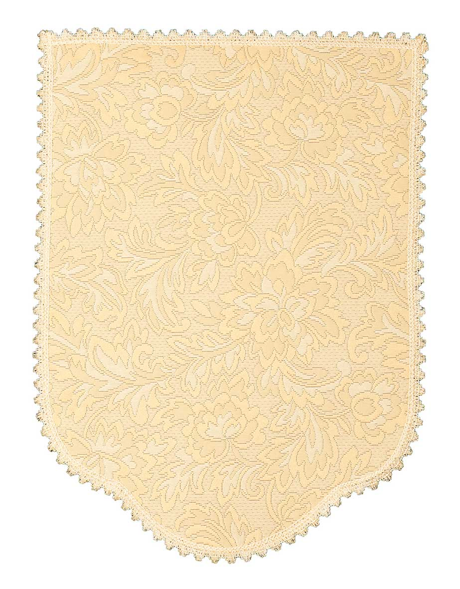 FLORAL MATELASSE Chair Back Covers Cream