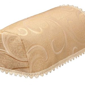 Scroll deep beige narrow chair arm covers (pairs)