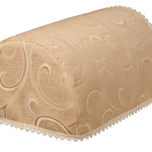 Scroll deep beige jumbo chair arm covers