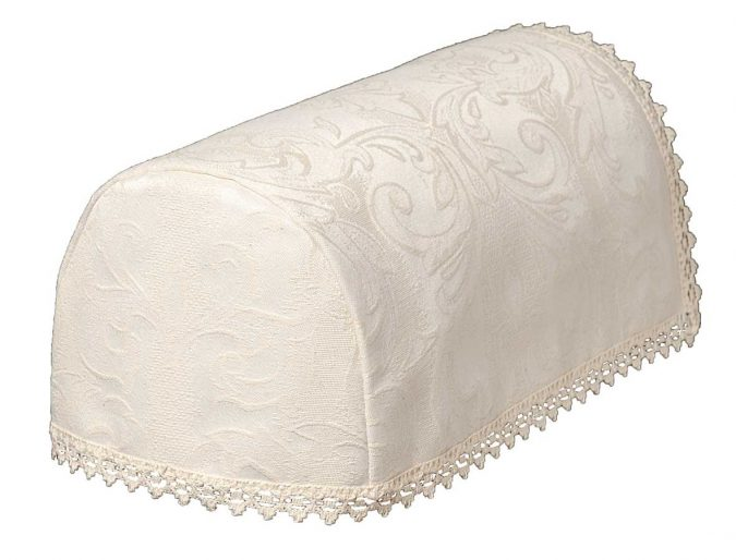 LOUISE Cream Jacquard Damask Chair Arm Covers