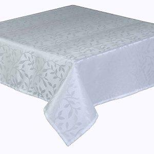 Bowdon white round tablecloth