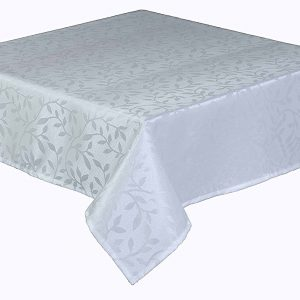 """Bowdon white oblong tablecloth in a 50 x 70"""" (127 x 1178 cm)"""